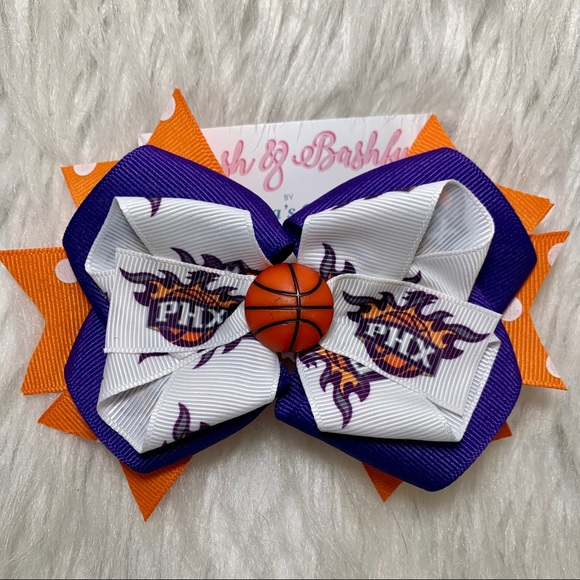 🎀🏀 NBA Phoenix Suns Hair Bow 🏀🎀